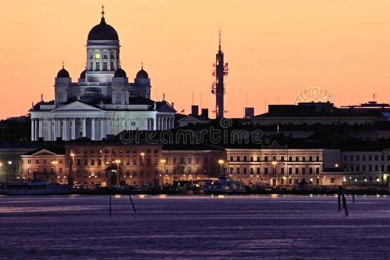 Finland: Helsinki skyline royalty free stock image