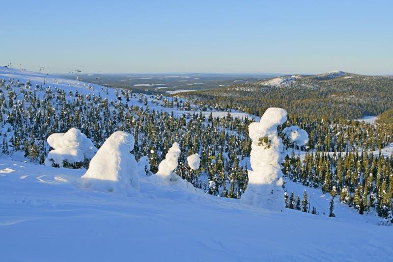 Finland i vinter royaltyfri fotografi