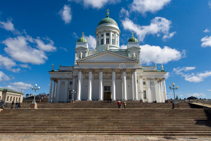 finland katedralny lutheran Helsinki fotografia royalty free