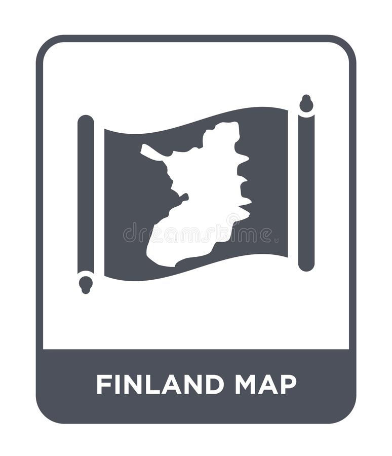 Finland map icon in trendy design style. finland map icon isolated on white background. finland map vector icon simple and modern. Flat symbol for web site stock illustration