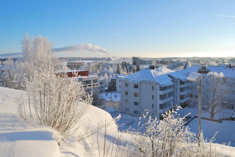 Finland Mikkeli in de winter stock foto's