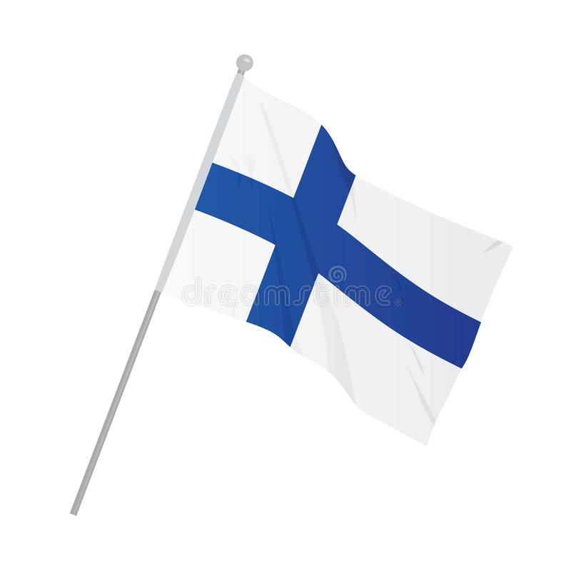 Finland national flag. Vector illustration stock illustration