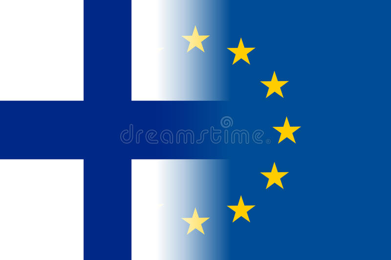 Download Finland National Flag With A Star Circle Of EU Stock Vector -  Illustration of geography
