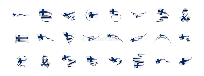 Finland flag, vector illustration on a white background. Finland national flag, vector illustration on a white background vector illustration