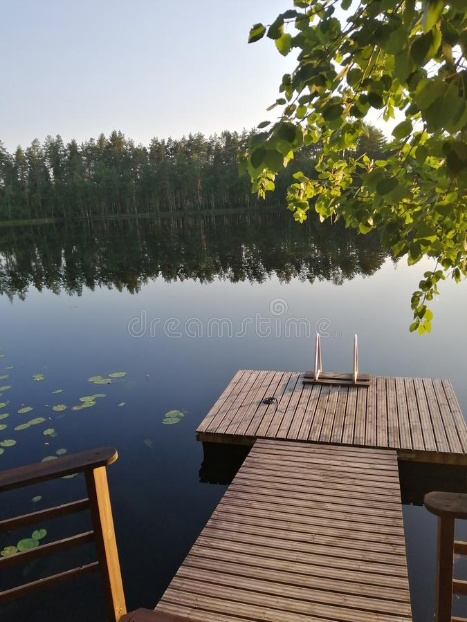 Finland nature cool summer lake finnish royalty free stock images