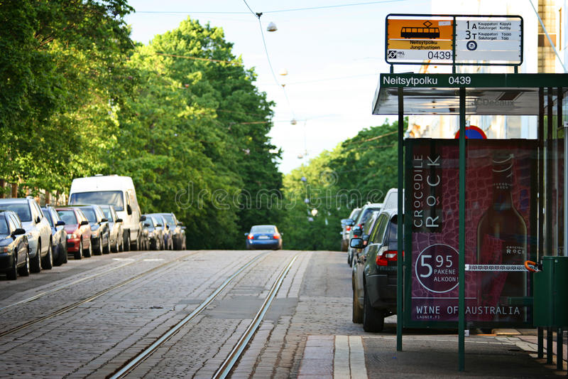 Finland: Openbaar vervoer in Helsinki stock fotografie