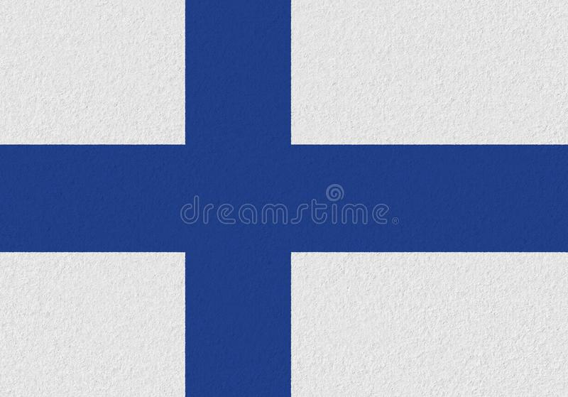 Finland paper flag. Patriotic background. National flag of Finland royalty free stock image
