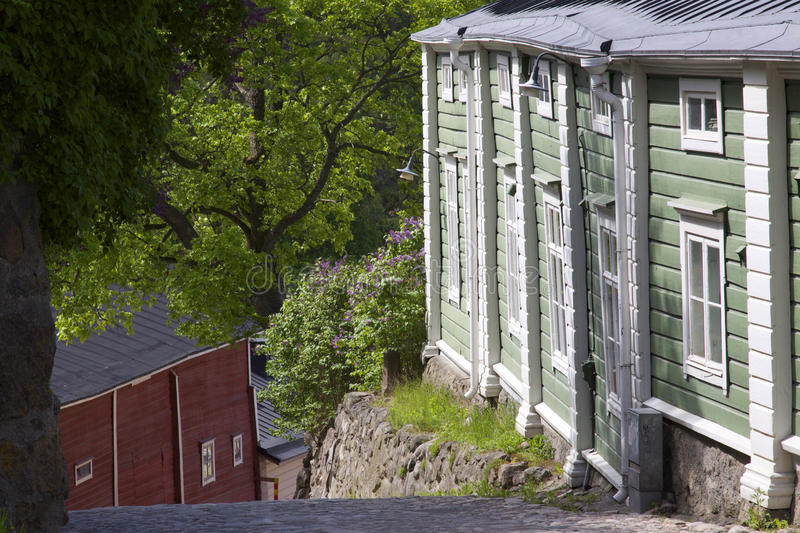 Finland: Porvoo old town stock photo
