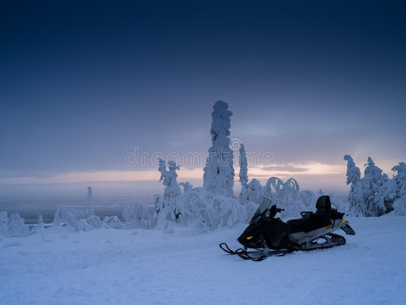Finland snowmobile royalty free stock image