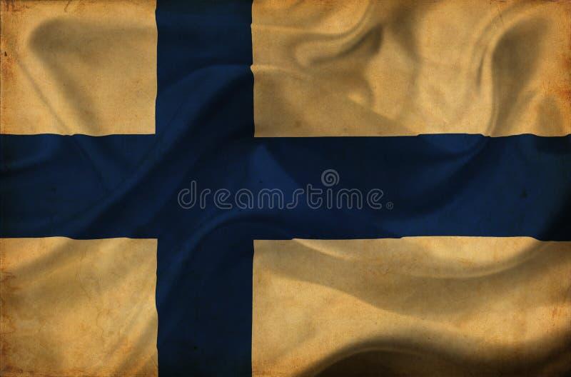 Finland waving flag vector illustration