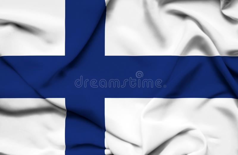 Finland waving flag royalty free illustration