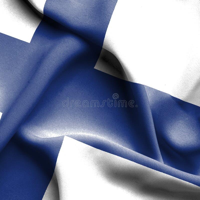 Finland waving flag stock illustration