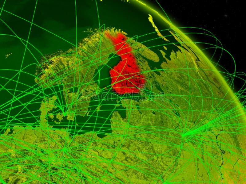 Finlandia en el globo digital stock de ilustración