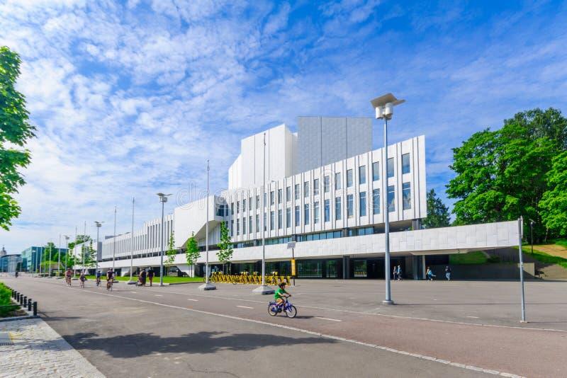 Finlandia Hall, in Helsinki lizenzfreie stockfotografie