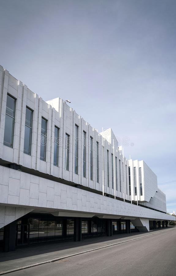 Finlandia Hall landmark building in helsinki city finland royalty free stock photography