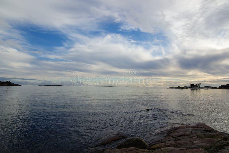 Finlandia, Hanko, zmierzch obraz royalty free