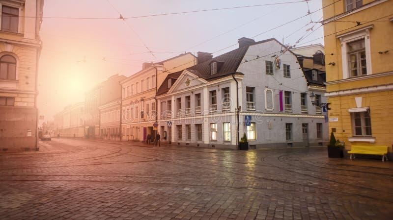Finlandia, Helsinki, atracciones del paisaje Cuadrado del senado Tono, foto de archivo libre de regalías