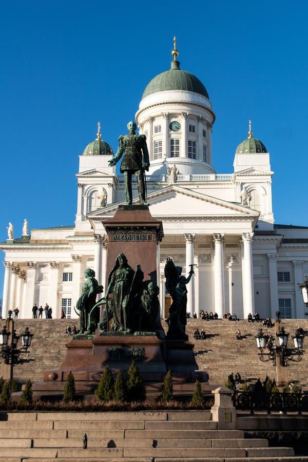 Finlandia Helsinki zabytek Aleksander I katedra II zdjęcie royalty free