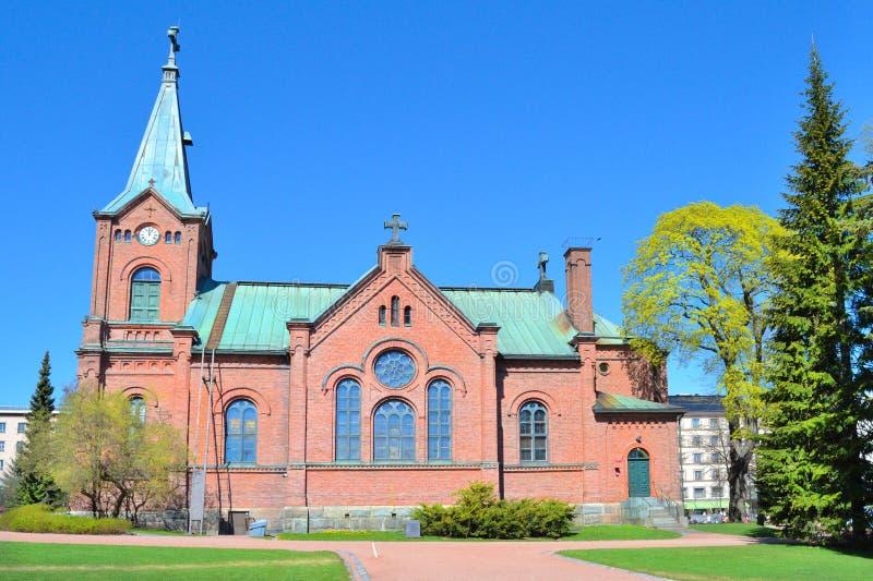 finlandia Iglesia de la ciudad de Jyvaskyla foto de archivo libre de regalías