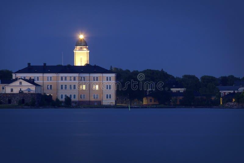 Finlandia: Meia-noite do verão em Helsínquia imagem de stock royalty free