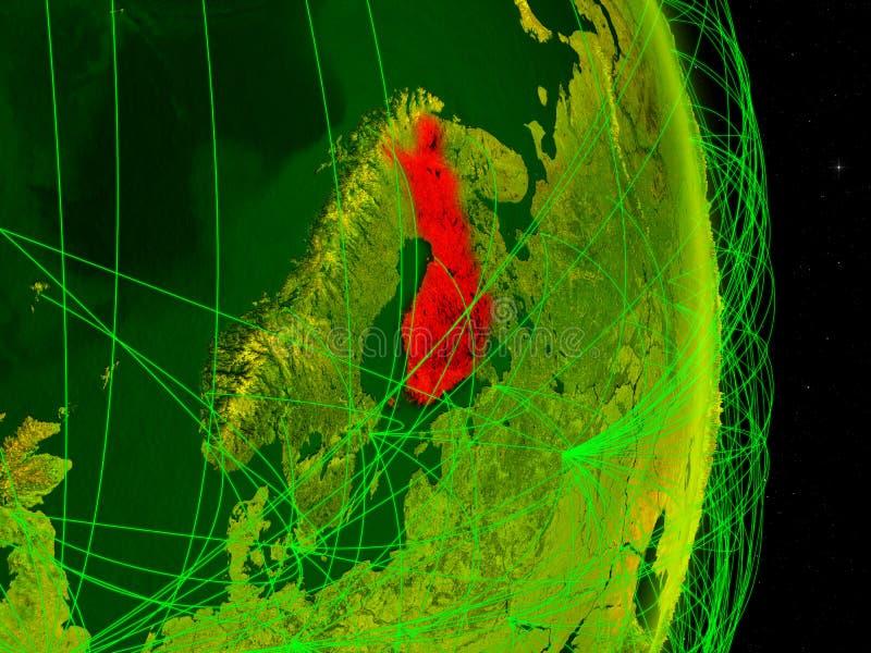 Finlandia na terra digital ilustração royalty free