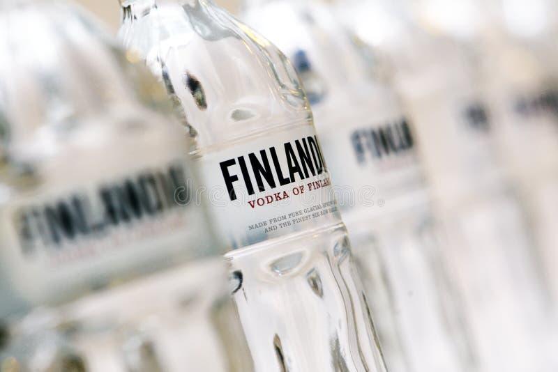 Finlandia vodka brännmärker arkivfoton