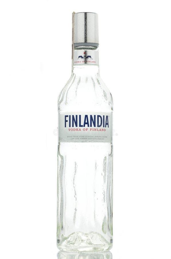 Free Finlandia Vodka Isolated On White Background Stock Photography - 64228982