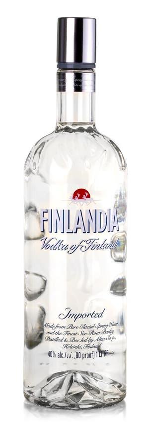 Finlandia vodka som isoleras på vit arkivfoton