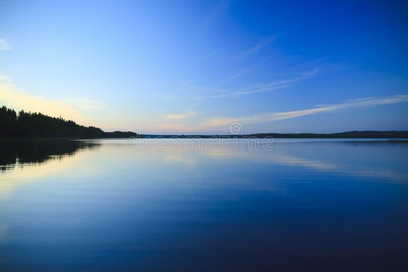 finlandia widok jeziora. zdjęcia stock