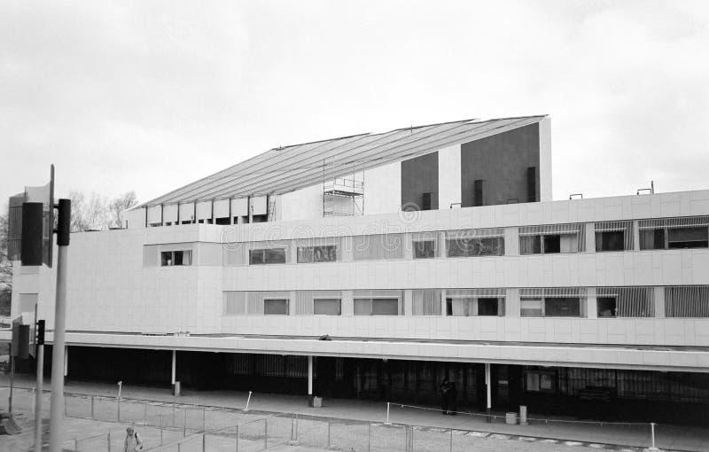 Finlandiatalo alias Finlandia Hall entwarf durch Alvar Aalto in Hels lizenzfreie stockfotografie