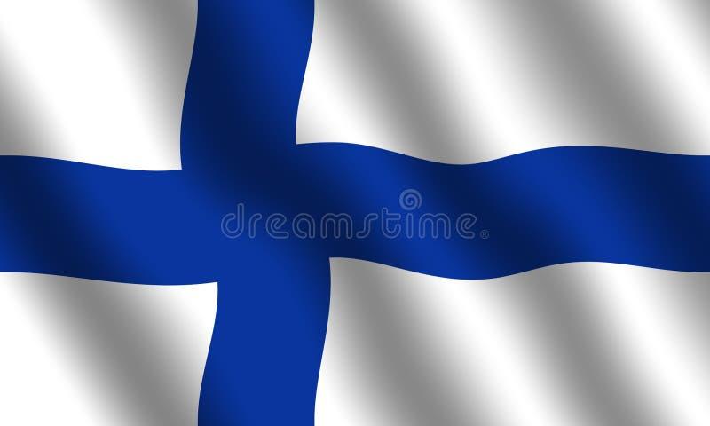 finlandssvensk flagga royaltyfri illustrationer