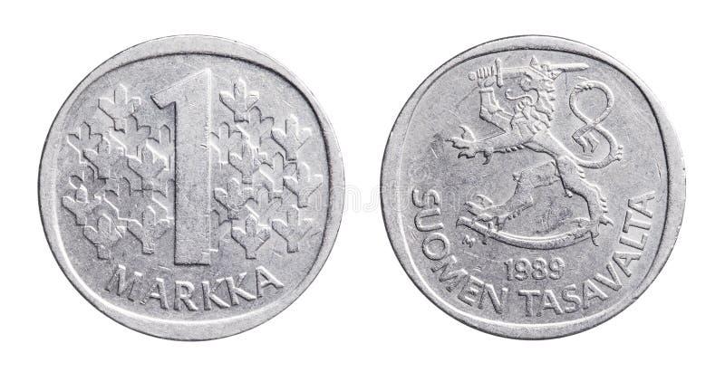 Finlandssvensk Markka royaltyfria foton