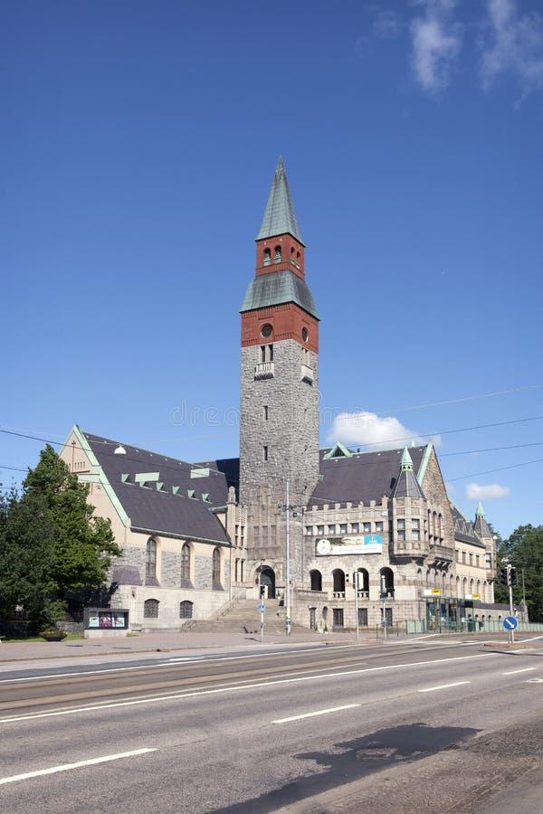 Finlandssvenskt nationellt museum i Helsingfors royaltyfria bilder
