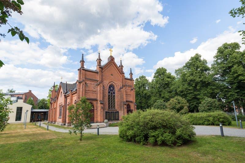 Finlayson kościół w Tampere, Finlandia obraz stock