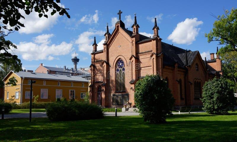 Finlaysonin-kirkko, Tampere Finnland lizenzfreies stockbild
