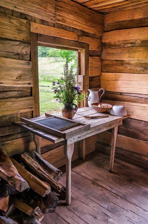 Finley kabina, Cumberland Gap park narodowy zdjęcie royalty free