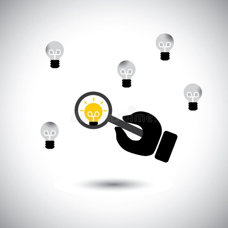 Finna begåvade anställda med bästa idéer - begreppsvektor royaltyfri illustrationer