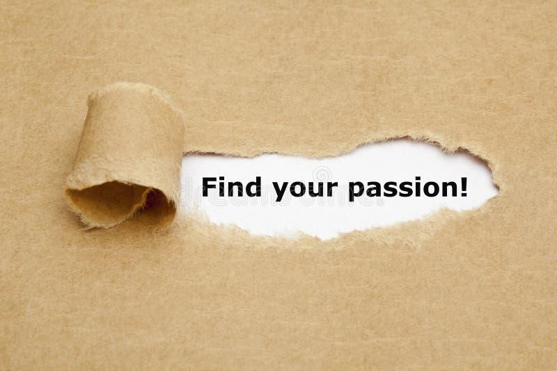 Finna ditt sönderrivna papper för passion arkivfoto
