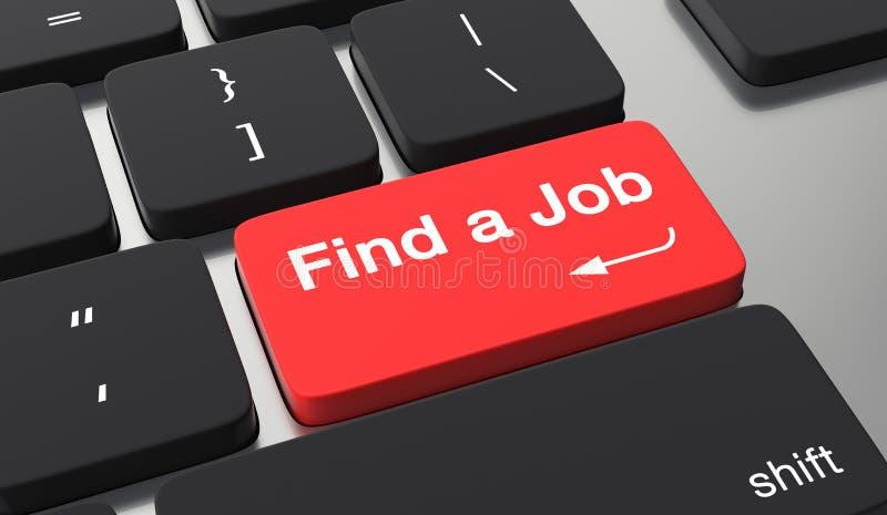 Finna ett jobbbegrepp stock illustrationer