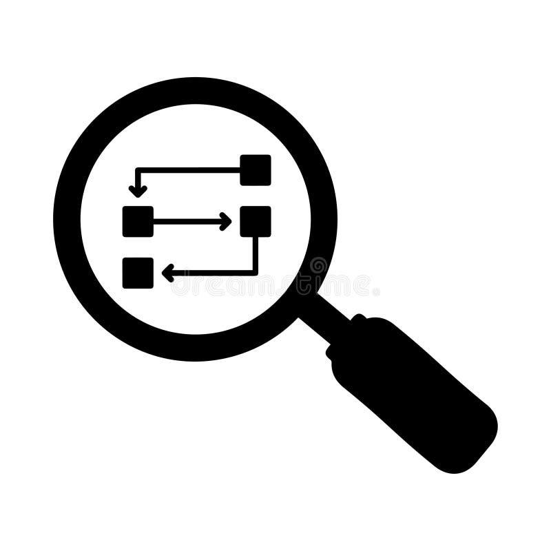 Finna lösningar symbol, problemlösning stock illustrationer