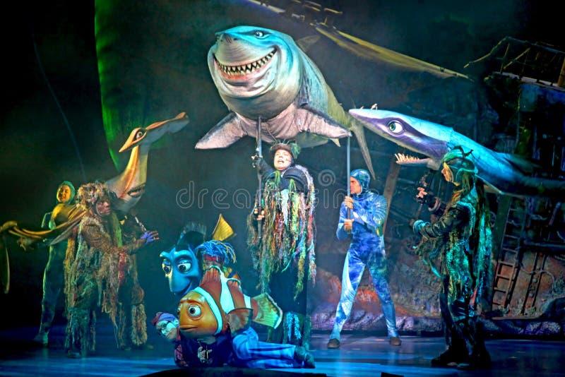 Finna Nemo - musikalen royaltyfria bilder