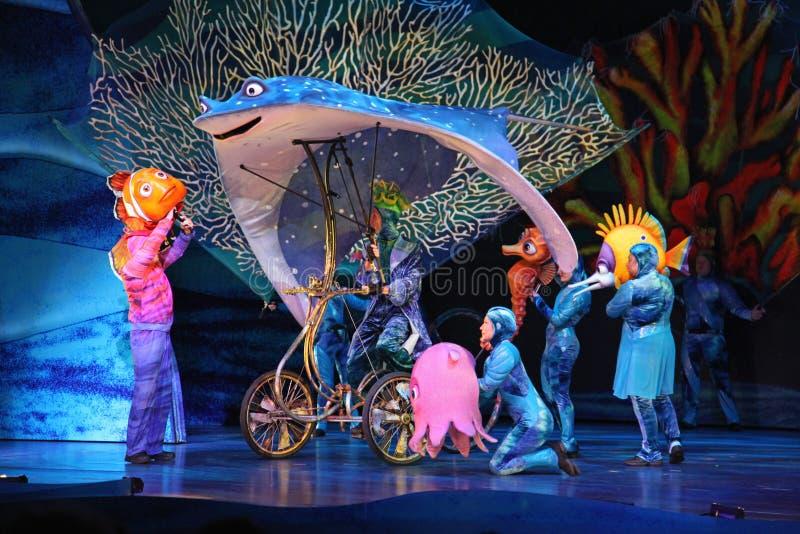 Finna Nemo - musikalen royaltyfri bild