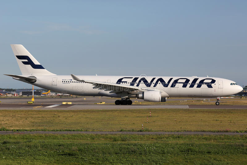 Finnair Airbus A330 photos libres de droits
