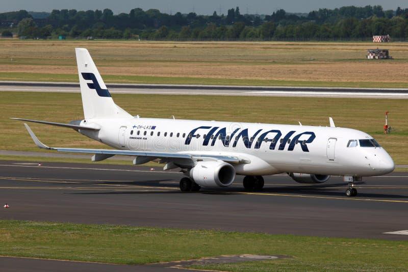 Finnair Embraer 190 immagine stock libera da diritti