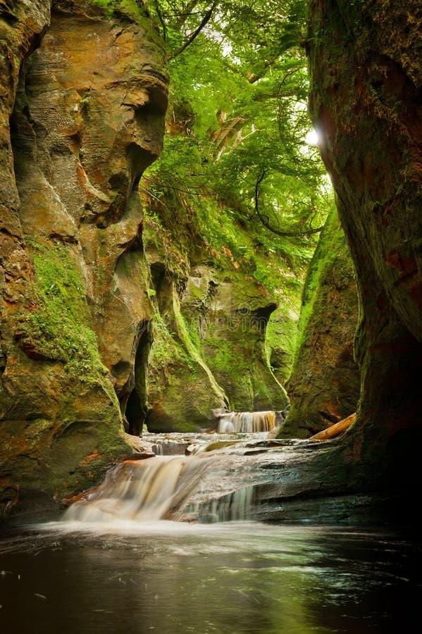 Finnich Glen Scotland lizenzfreie stockbilder