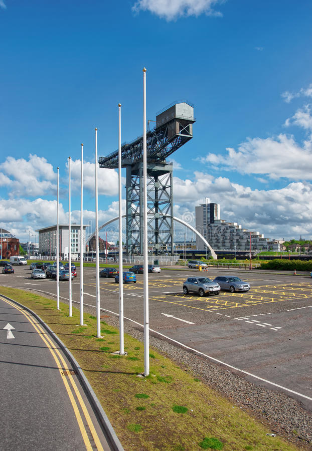 Finnieston Cranel em Cyderport em Glasgow fotos de stock