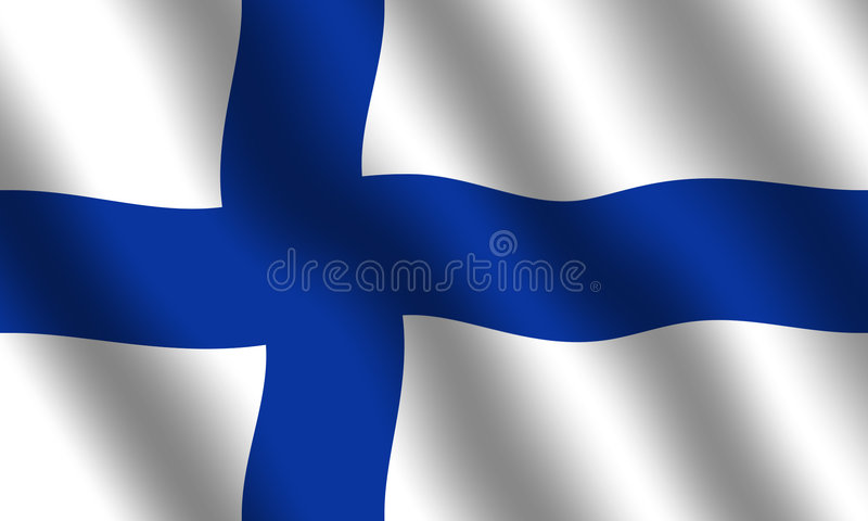 Finnische Markierungsfahne lizenzfreie abbildung