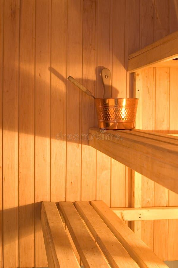 Finnische Sauna lizenzfreie stockfotografie