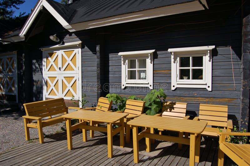Finnischer Patio lizenzfreies stockfoto