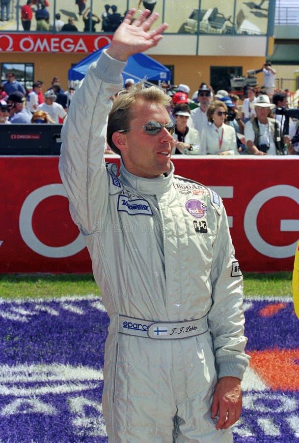 Finnischer Rennfahrer JJ Lehto lizenzfreies stockfoto